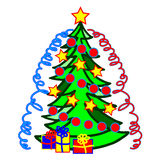 árboles de navidad de la imagen stock de ilustración