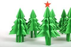 Árboles de navidad de la papiroflexia Fotografía de archivo libre de regalías