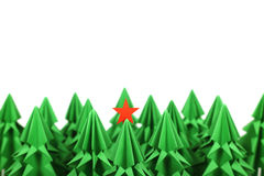 Árboles de navidad de la papiroflexia Imagen de archivo libre de regalías