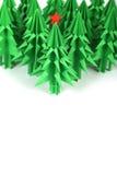 Árboles de navidad de la papiroflexia Imágenes de archivo libres de regalías