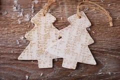 Árboles de navidad de madera Imagen de archivo libre de regalías