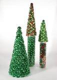 Árboles de navidad de ornamentos Fotografía de archivo libre de regalías