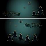 Árboles de navidad de oro abstractos en fondo negro Ilustración del vector eps10 Imagen de archivo libre de regalías