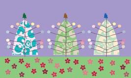 Árboles de navidad de Stilized Fotos de archivo libres de regalías