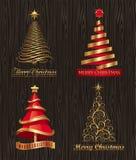 Árboles de navidad decorativos ilustración del vector