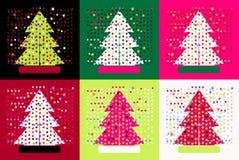 Árboles de navidad del estallido stock de ilustración