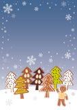 Árboles de navidad del pan de jengibre Fotografía de archivo libre de regalías