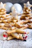 Árboles de navidad del pan de jengibre Imagen de archivo