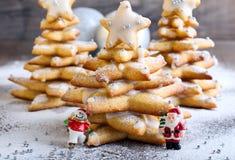 Árboles de navidad del pan de jengibre Imágenes de archivo libres de regalías