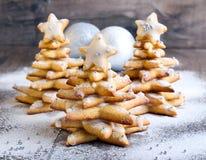 Árboles de navidad del pan de jengibre Imagenes de archivo