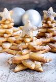 Árboles de navidad del pan de jengibre Fotografía de archivo