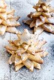 Árboles de navidad del pan de jengibre Foto de archivo libre de regalías
