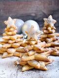 Árboles de navidad del pan de jengibre Fotos de archivo