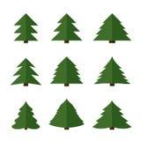 Árboles de navidad del vector Imágenes de archivo libres de regalías