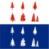 Árboles de navidad del vector Imagen de archivo libre de regalías