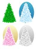 Árboles de navidad descubiertos Fotos de archivo libres de regalías