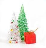 Árboles de navidad en aislante Imagen de archivo