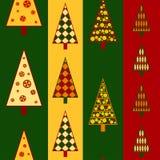 Árboles de navidad inconsútiles Fotos de archivo libres de regalías