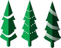 Árboles de navidad isométricos aislados en el fondo blanco libre illustration