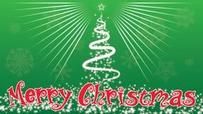 Árboles de navidad de la Feliz Navidad adornados fuera de backgrou verde libre illustration