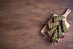 Árboles de navidad de los brownie foto de archivo