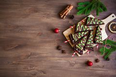 Árboles de navidad de los brownie fotografía de archivo libre de regalías