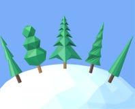 Árboles de navidad poligonales Fotos de archivo libres de regalías