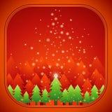 Árboles de navidad, vector Imagen de archivo