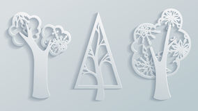 Árboles de papel Fotografía de archivo libre de regalías