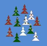 Árboles decorativos Fotografía de archivo libre de regalías