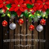 Árboles del árbol de hoja perenne de la decoración de la Navidad Foto de archivo