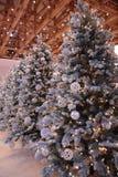 Árboles del Año Nuevo de la decoración Imágenes de archivo libres de regalías