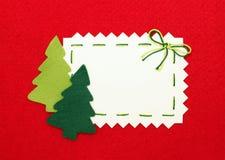 Árboles del Año Nuevo en blanco y en rojo Imagenes de archivo