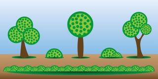 Árboles del activo del juego Fotos de archivo