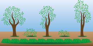 Árboles del activo del juego Foto de archivo