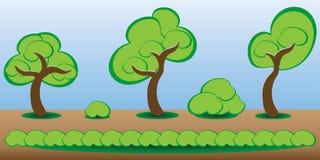 Árboles del activo del juego Foto de archivo libre de regalías