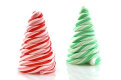 Árboles del caramelo de la Navidad Foto de archivo libre de regalías
