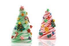 Árboles del caramelo de la Navidad Fotos de archivo
