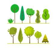 Árboles del Forest Green Fotografía de archivo