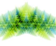Árboles del fractal Imagenes de archivo