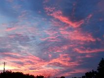 Árboles del sol del cielo del arte de las nubes imagen de archivo libre de regalías