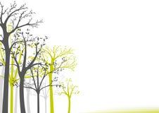 Árboles en el fondo blanco ilustración del vector