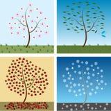 Árboles estacionales ilustración del vector
