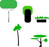 Árboles estilizados abstractos ejemplo natural Fotografía de archivo libre de regalías