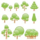 Árboles estilizados del vector Fotos de archivo