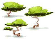 Árboles extraños divertidos para la fantasía Scenics stock de ilustración