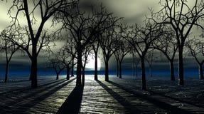 Árboles fantasmagóricos stock de ilustración