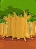 Árboles grandes en el bosque stock de ilustración