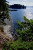 Árboles, sol, e islas Fotografía de archivo libre de regalías