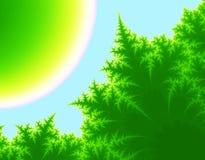 Árboles tropicales ilustración del vector
